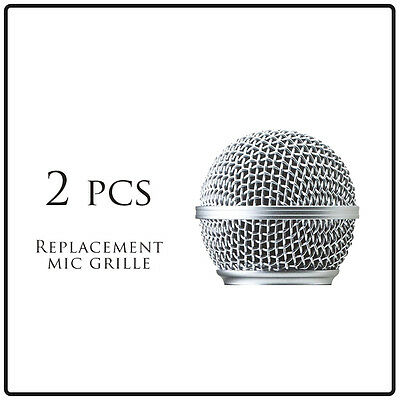 2pcs Microphone Ball Grill Head Mesh Replacemen fits Shure Sm 58 Beta 58