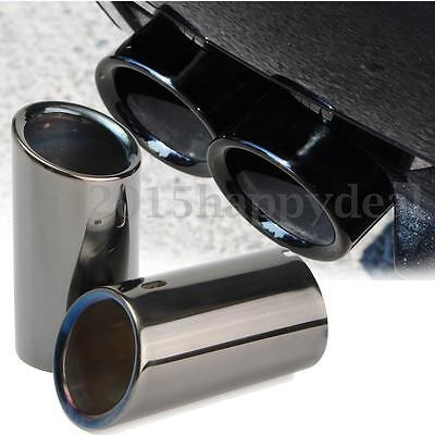 Pair Tail Muffer Exhaust Tip Pipe Titanium Car For BMW E90 E92 325 328i 3 Series
