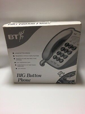 BT Big Button Corded Phone with Phonebook and in White