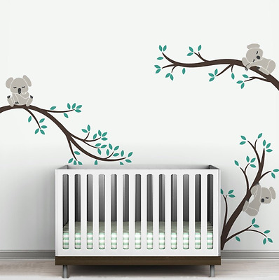 Removable Koala Tree Branches DIY Wall Sticker Baby Nursery Decor For Kids Room
