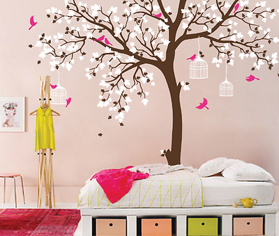 Tree Nursery Room Decor Baby Room Wall Decal Large Stickers For Kids Room