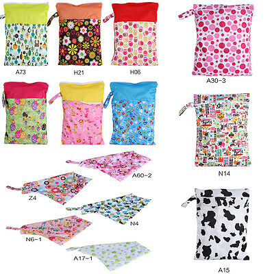 16 Types Washable Reusable Cloth Nappy Wet Bag Menstrual Travelling Carry Pouch