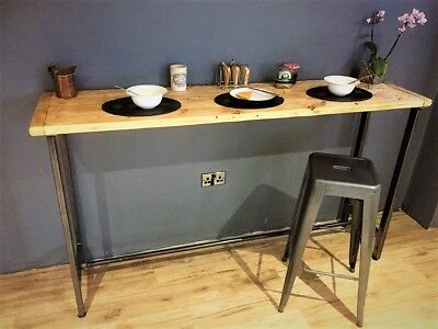 Breakfast bar table / Bistro table/ Poseur Table /Reclaimed Wood Table / Bespoke