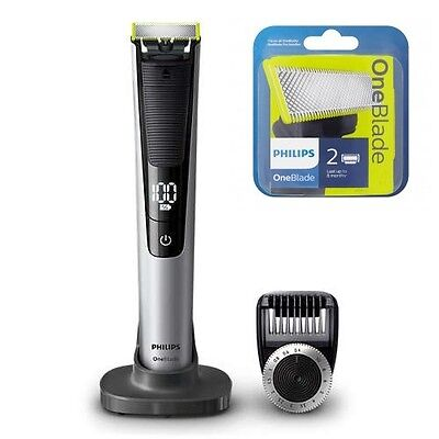 Philips OneBlade Pro QP6520 plus 2 EXTRA BLADES Rechargeable Trim 14-length comb