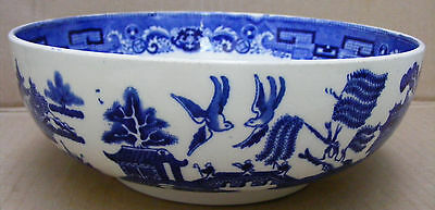Spode/ Copeland Blue & White Footed Willow Pattern Bowl