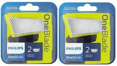 2 x Philips One Blade QP220/50 Replaceable  Blade Head - BEST PRICE!! = 4 Blades