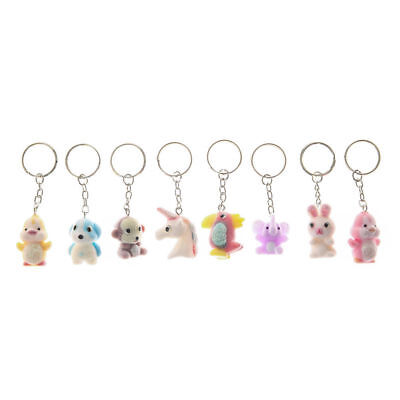 Girls and Womens 8 Pack Fuzzy Best Friend Keyrings