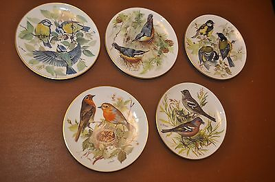 Set of 5 Boxed Bird WWF Ursula Band Collectors Plates