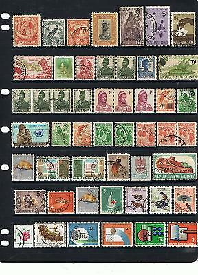 large Collection Early Onward PNG Stamps Mint & Used Off Paper Unchecked