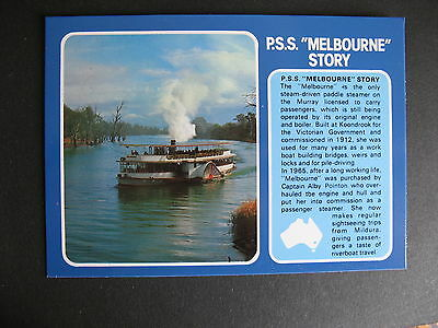 Paddle Steamer PSS Mebourne Story