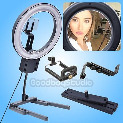 Studio Diva 40W Ring Light with H-Stand + Camera Phone Holder Selfie Photo Video