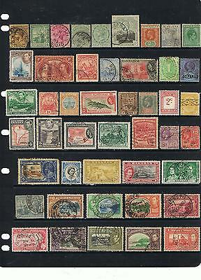 Large Collection Early Onward British Commonwealth Countries Stamps Off Paper