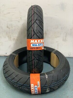 1 x 180/55-17 (73W) 1x 120/70-17 (58W) Maxxis MA-ST2 Motorcycle - PAIR OF TYRES