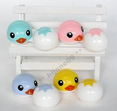 Colorful Duck Contact Lens Travel Kit Case Pocket Size Storage Holder Container
