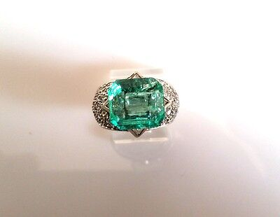 6.82CT NATURAL COLOMBIAN EMERALD LOOSE STONE 12X11mm