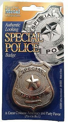 12 Fake Toy Metal Special Forces Badge ~ Cop Police Costume Badges In Bulk