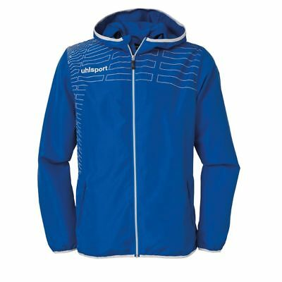 Uhlsport Womens Ladies Sports Football Training Hooded Zip Jacket Top Blue ...