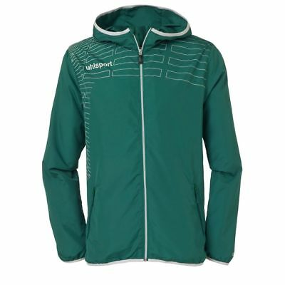Uhlsport Womens Ladies Sports Football Training Hooded Zip Jacket Top Green ...