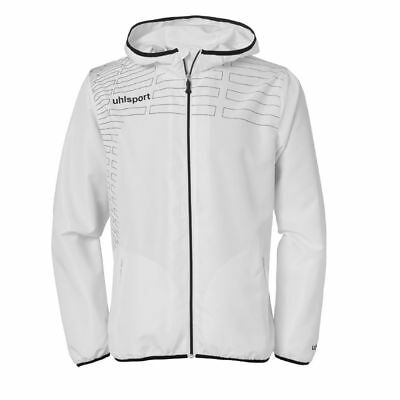 Uhlsport Womens Ladies Sports Football Training Hooded Zip Jacket Top White ...