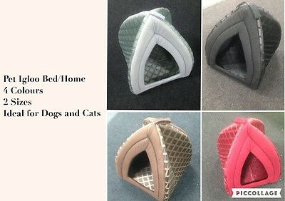 Pet bed/home Igloo for dogs and Cats and all, Warm padded insulated cosy bed