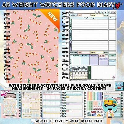 3 Mth Diet Food Diary WEIGHT WATCHERS Compatible Journal Planner Book WW 11-2017