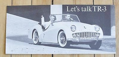 Original 1950's Triumph TR 3 Dealer Sales Brochure