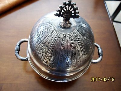 Victorian James W Tufts Boston Covered Butter Dish 2038