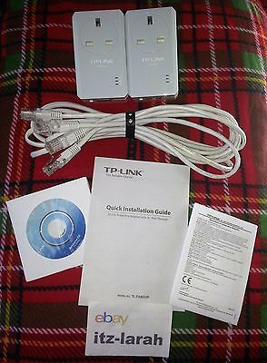 TP-Link AV500 Powerline Adapter Kit With AC Pass Through - TL-PA451
