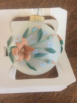 Vintage Hand Blown Painted Glass Ornament Every Family Krebs' Xmas