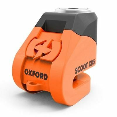 Oxford Scoot XD5 Scooter Brake Disc Lock 5mm Pin Vespa Motorcycle Orange New