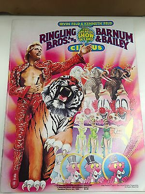 Ringling Bros. and Barnum & Bailey Circus Program 113th Edition With Poster