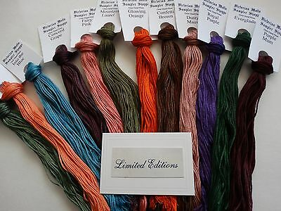 Limited Editions (March),hand dyed floss GIFT BOXED! 12 (20 yd skeins