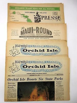 Qty 4 Vintage 1967 Hawaii Newsprint Visitor Guides Newspapers