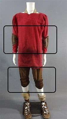 2016 Roman Legionary BEN HUR soldier Movie Prop leather & elbow and knee padding