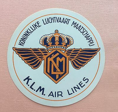Airline luggage label K.L.M. Air Lines