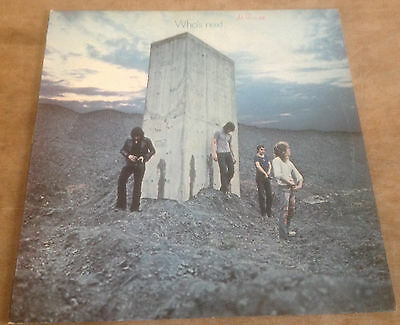 THE WHO who's next 1970s UK TRACK A1/B2 STEREO VINYL LP