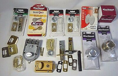 Large lot KWIKSET door parts Re-Key Kit interior Door Latch dummy knob Segal
