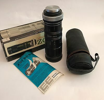 Vintage Astronar Zoom Lens and case. 95mm-205mm f/6.3