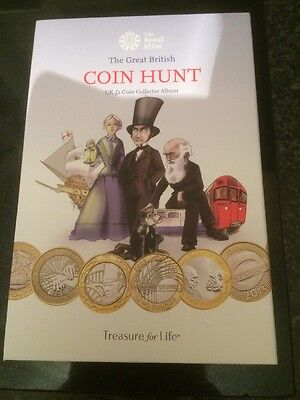 The Great British £2 Pound Coin Hunt Album From Royal Mint