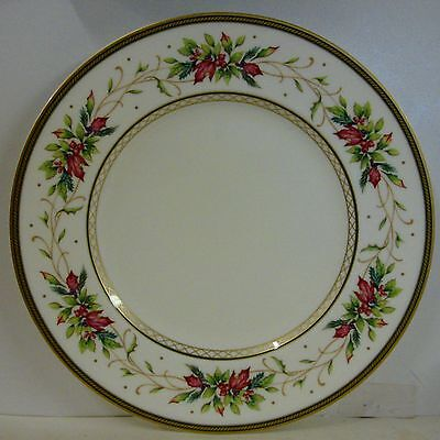 Fitz & Floyd WINTER HOLIDAY Dinner Plate BEST!  Multiple Available GARLAND RIM