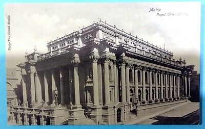 Malta postcard: Royal Opera House, posted 25 October 1914, no stamp.
