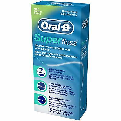 Oral-B Superfloss Pre-cut Strands Ideal for Braces,Bridges and Wide Spaces