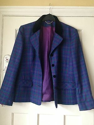 Vintage Debenhams & Freebody Jacket 16 Purple Blue Pink