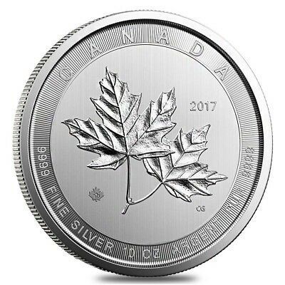 2017 10 oz Canadian Magnificent Silver Maple Leaf .9999 Fine $50 Coin BU (In Cap