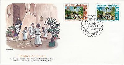 First day cover, Kuwait, Scott #776-7, Year of the Child, Fleetwood cachet, 1979