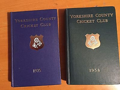 1958 & 1975 Yorkshire County Cricket Club Annual Yearbooks
