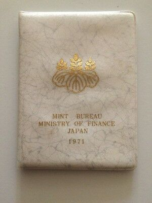 1971 JAPAN 5 Coin Mint Set / Ministry Of Finance