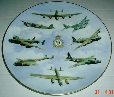 Coalport Limited Edition Collectors Plate 50TH ANNIVERSARY OF BOMBER COMMAND