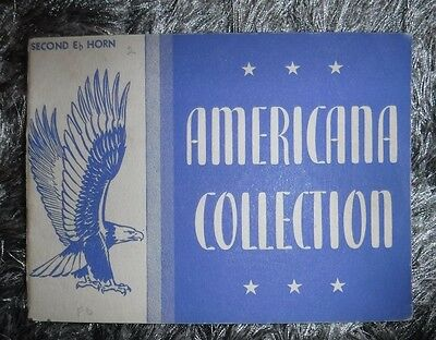 Americana Collection-Second E Horn - By Rubank Inc -Vintage 1942