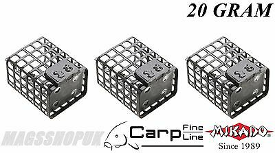 Mikado Fishing Square Metal Cage Feeders  With Swivel, 20 Gram, Pack Of 3, Carp